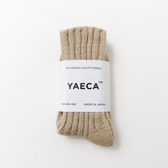 YAECA | シルクコットンリブソックス Khaki | F052201FS120