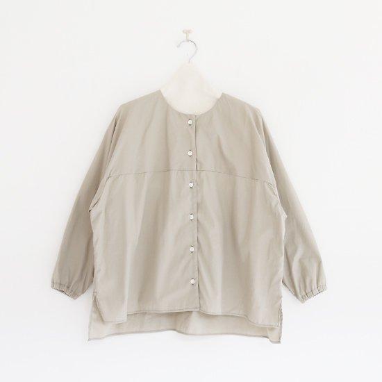 Atelier d'antan | ノーカラーシャツ〈 Kress 〉Light Grey | A232201TS407