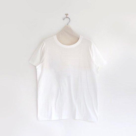 Yaeca | ライトUネックTシャツ White | F052181TT048