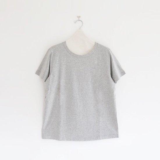 Yaeca | ライトUネックTシャツ Grey | F052181TT048