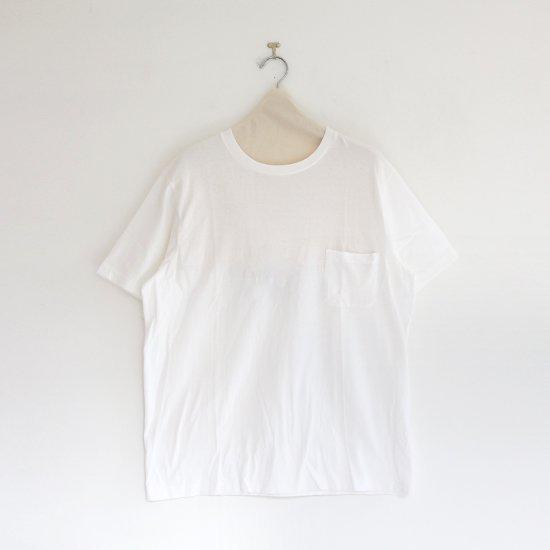 Yaeca | クルーネックポケットTシャツ White | F052191TT097