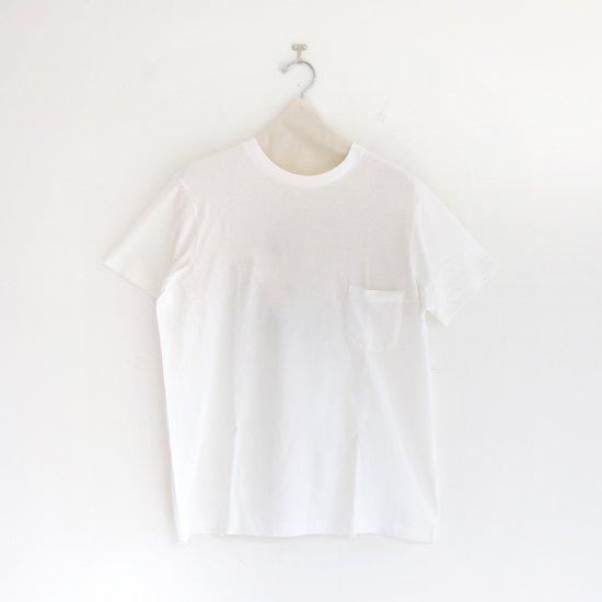 Yaeca | クルーネックポケットTシャツ White | F052191TT098