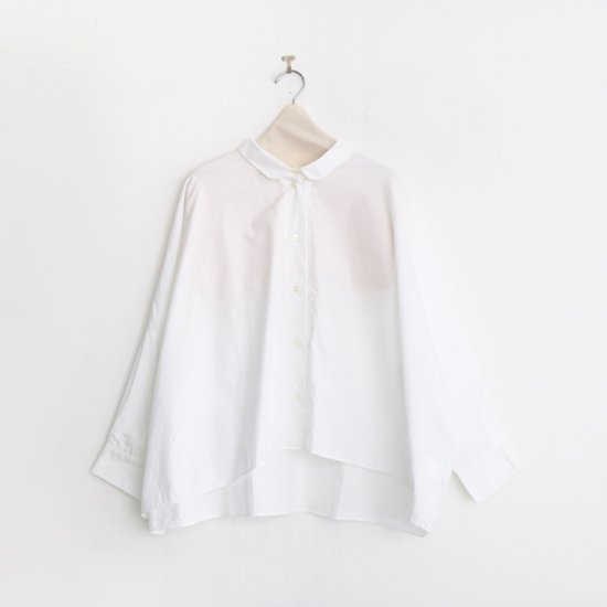 Gallego Desportes | ラウンドカラーシャツ White | D001202TS203