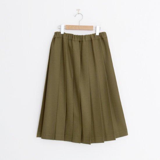 Charpentier de Vaisseau | ウールプリーツスカート〈 Belle 〉Olive | C003162PS087