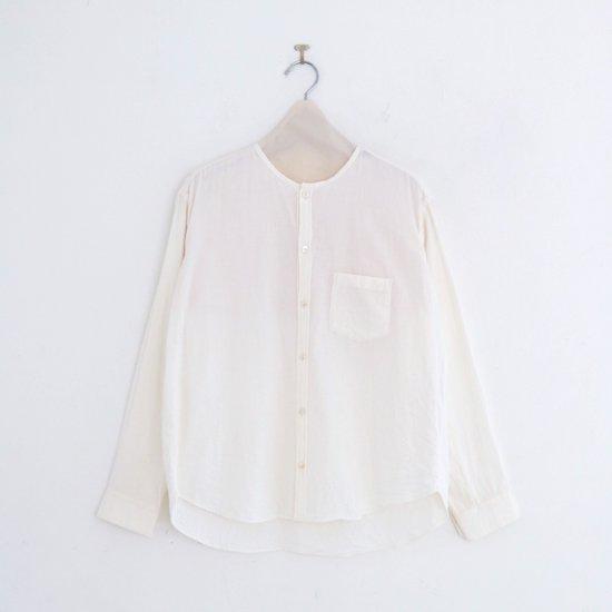 ゴーシュ | コットンウールビエラシャツ White | F019202TS423