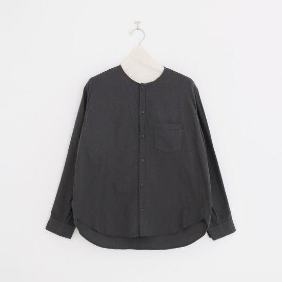 ゴーシュ   コットンウールビエラシャツ Dark Grey   F019202TS423