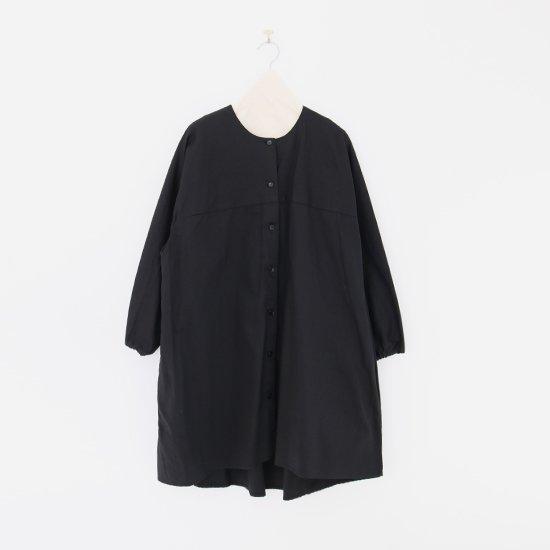 Atelier d'antan | ノーカラーロングシャツ〈 Seton 〉Black | A232202TS468