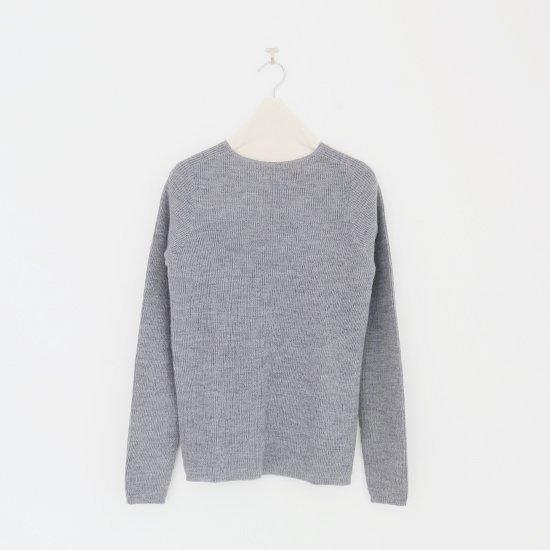 F/style | ウールリブニット Grey | F009152TK009