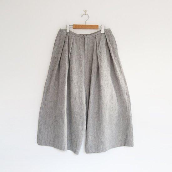 ゴーシュ   リネンコットンカルゼハカマパンツ Light Grey   F019202PP413