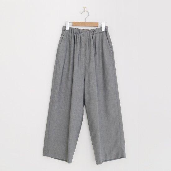 ゴーシュ   クリアウールへリンボンワイドパンツ Grey   F019202PP420
