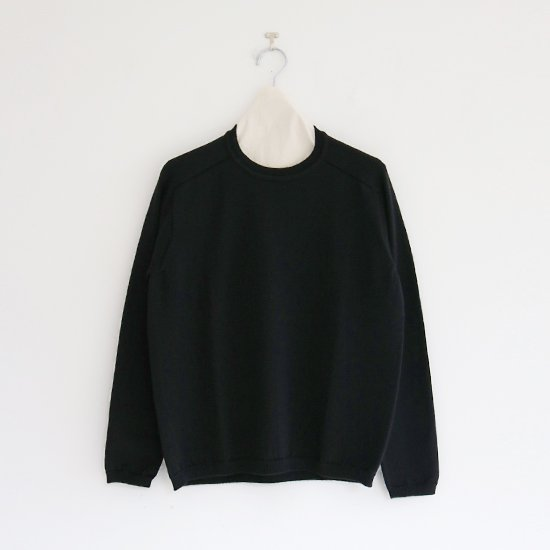 Charpentier de Vaisseau | ホールガーメントウールニット〈 Klay 〉Black | C003202TK419