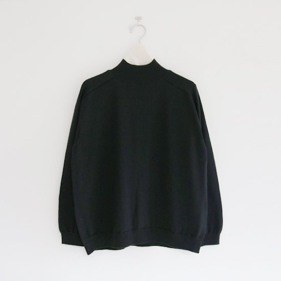 Charpentier de Vaisseau | ホールガーメントハイネックウールニット〈 Kara 〉Black | C003202TK420
