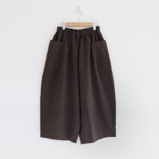 【 Special Edition 】<br>Atelier d'antan | サイドポケットワイドパンツ〈 Perriere 〉Dark Brown | A232192PP392