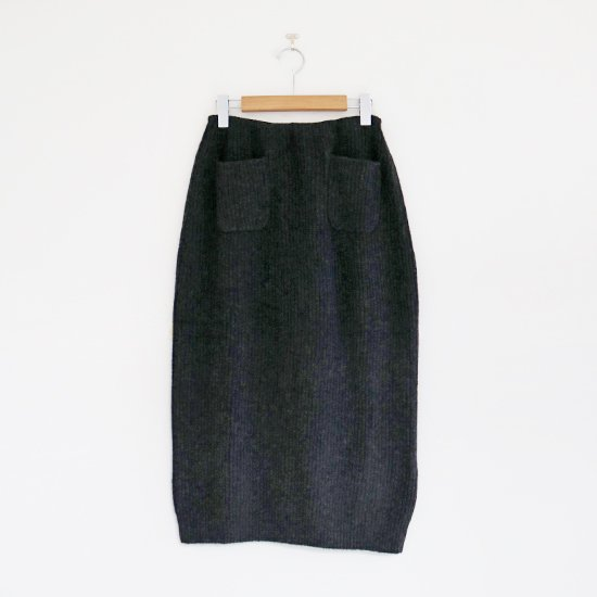 Boboutic | リブニットスカート Dark Grey | D064202PS084