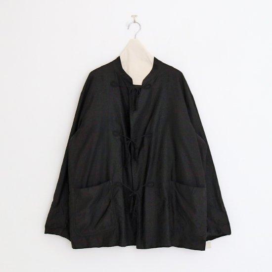 Comoli | コットンサテンスタンドカラージャケット Black | F035202TJ134