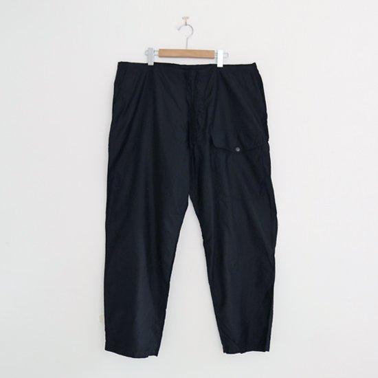 Comoli | コットンサテンドローストリングパンツ Black | F035202PP135