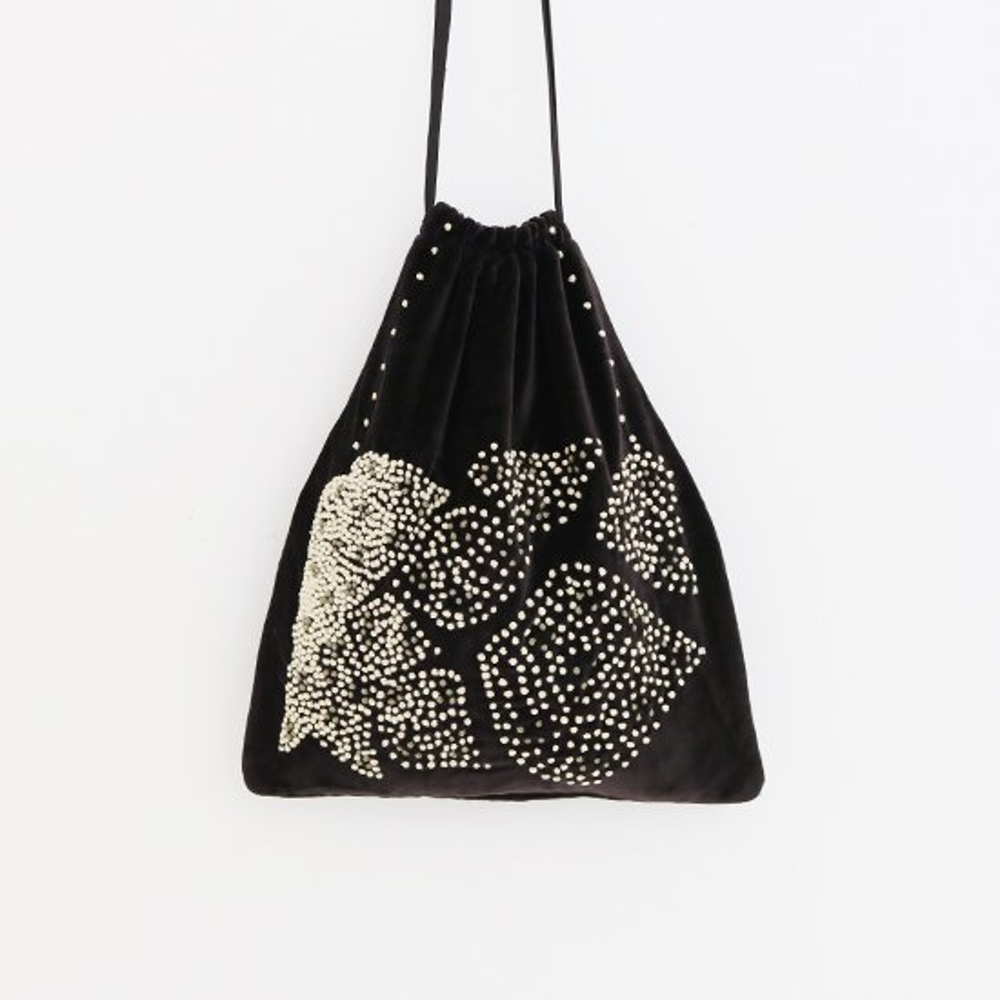 Khadi and Co. | ベルベットバッグ Lotus Black | D012202BB339