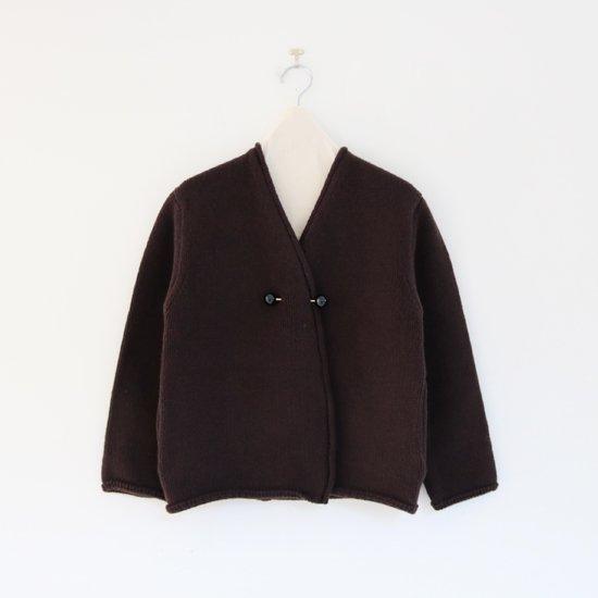 Atelier d'antan | アシンメトリーニットジャケット〈 Degas 〉Brown | A232181TK347