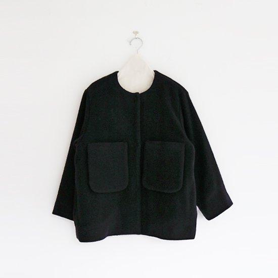 Atelier d'antan | ローデンウールノーカラージャケット〈 Petri 〉Black | A232202TJ442