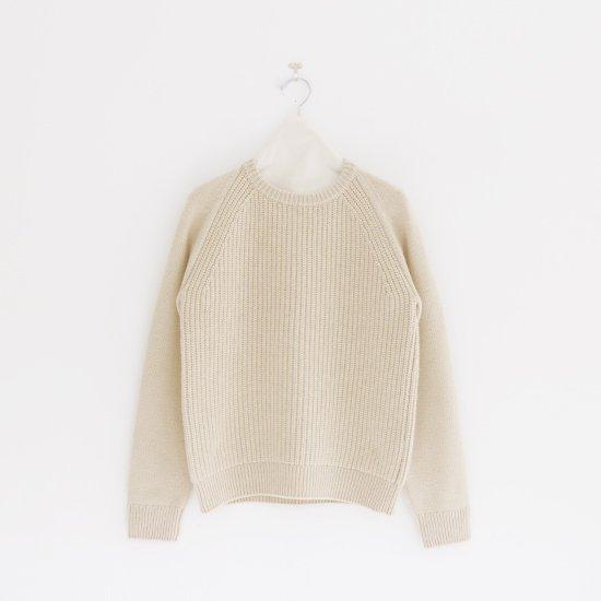 糸衣 | リブカシミヤニット〈 Maki 〉Natural | E009192TK212