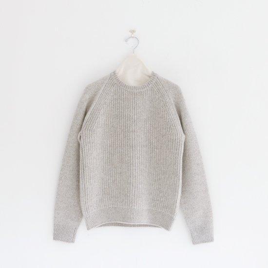 糸衣 | リブカシミヤニット〈 Maki 〉Light Grey | E009192TK212