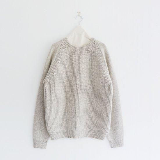 糸衣 | リブカシミヤニット〈 Maki-U 〉Light Grey | E009192TK213
