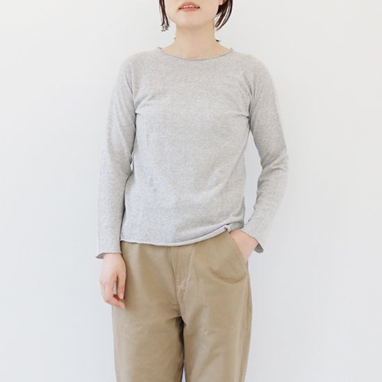 F/style <br/>Cotton Crew Knit / Light Grey