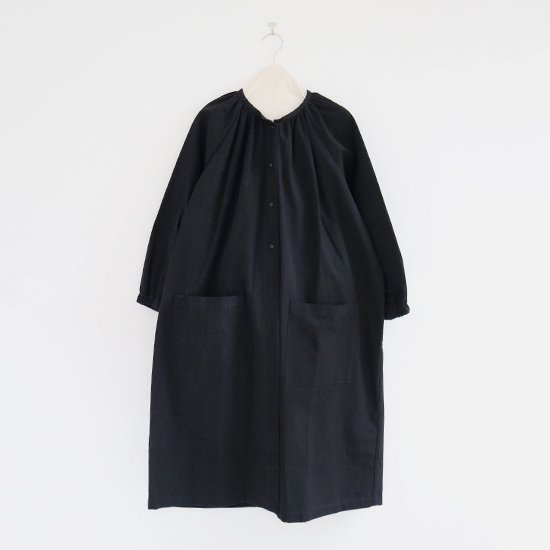 Lin Francais D'antan <BR>コットンアトリエブラウス<BR>〈 Rousseau 〉<BR>Black