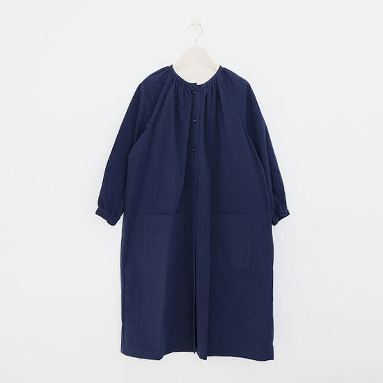 Lin Francais D'antan <BR>コットンアトリエブラウス<BR>〈 Rousseau 〉<BR>Navy