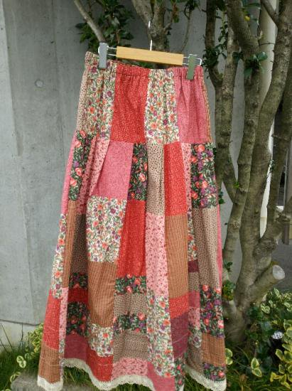 COTTON CARICO PATCHWORK LONG SKIRT #3