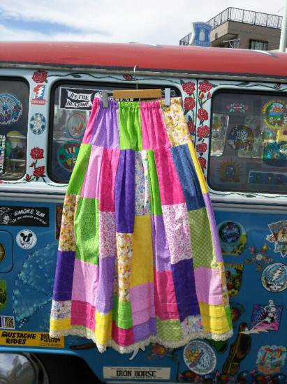 COTTON CARICO PATCHWORK LONG SKIRT #4