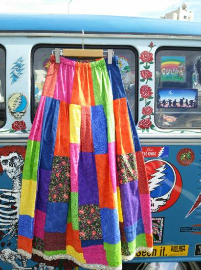 COTTON CARICO PATCHWORK LONG SKIRT #6
