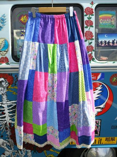 COTTON CARICO PATCHWORK LONG SKIRT #10