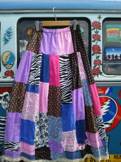 COTTON CARICO PATCHWORK LONG SKIRT #13