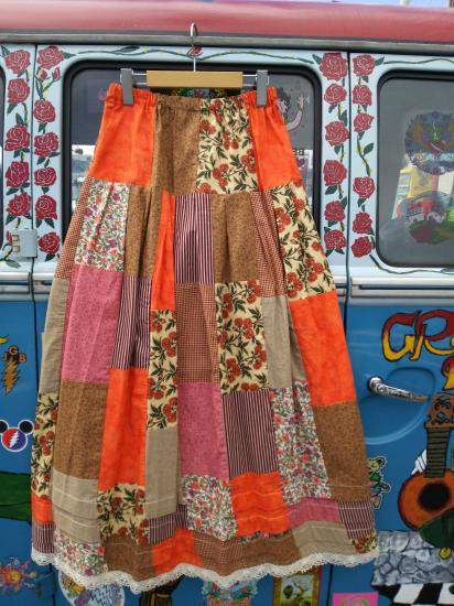 COTTON CARICO PATCHWORK LONG SKIRT #14