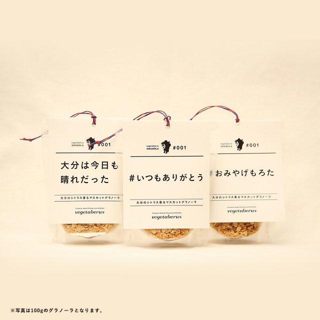 プレミアムローカルグラノーラ  【ウェブ限定パッケージ】大分のシトラス香るシャインマスカットのグラノーラセット(60g×3)