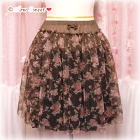 HowSweet*Rose-tulle Skirt*