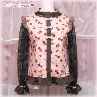 HowSweet*Chocolate Sweets Tops*[pink]ブラウス