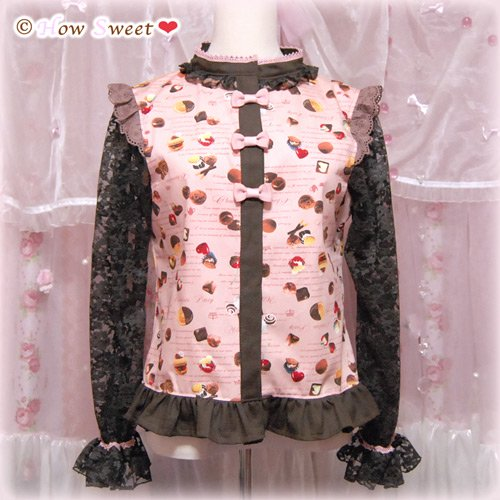 HowSweet*Chocolate Sweets Tops*[pink]--500画像