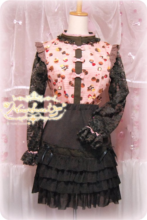 HowSweet*Chocolate Sweets Tops*[pink]-着画