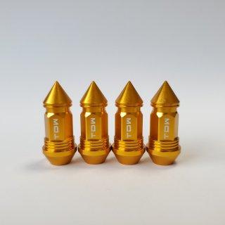 TDW エアバルブキャップ Nut Design SPIKE 4個入 ゴールド