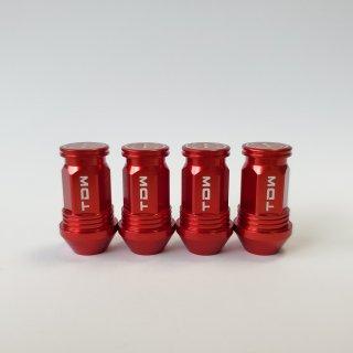 TDW エアバルブキャップ Nut Design FLAT 4個入 レッド
