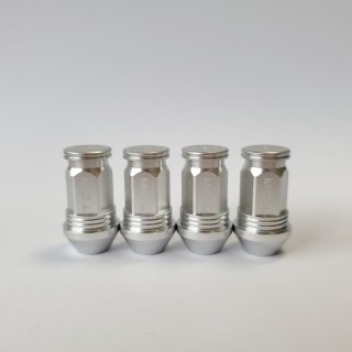 TDW エアバルブキャップ Nut Design FLAT 4個入 シルバー