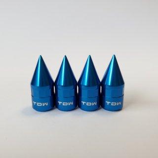 TDW エアバルブキャップ SPIKE 4個入 ブルー