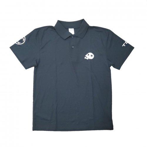 TDW スカルロゴ ドライポロシャツ ブラック