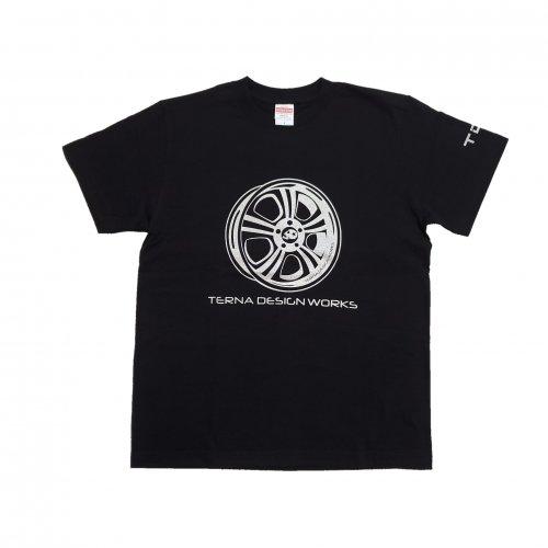TDW ホイールロゴ プレミアムTシャツ ブラック