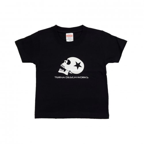 TDW キッズTシャツ スカルロゴ ブラック
