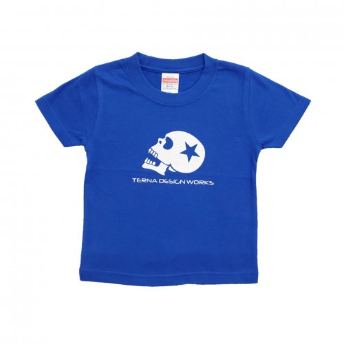 TDW キッズTシャツ スカルロゴ ブルー