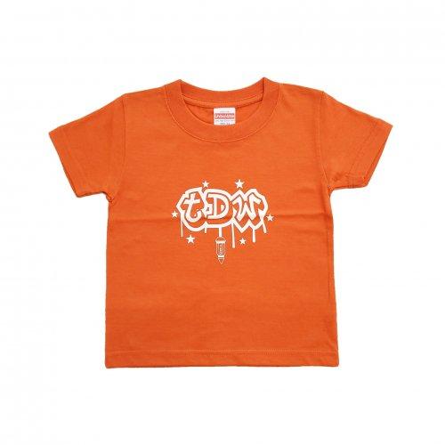 TDW キッズTシャツ ナットロゴ オレンジ