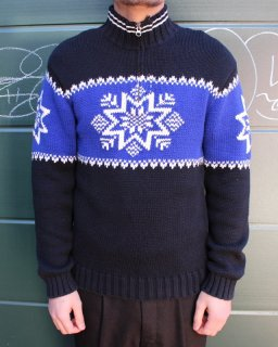 Ralph Lauren SNOW CRYSTAL HALFZIP SWEATER